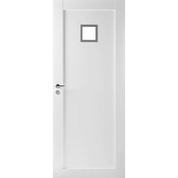 Дверь массивная Unique 502 с прозрачным стеклом