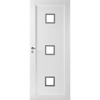 Дверь массивная Unique 503 с прозрачным стеклом