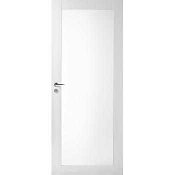 Дверь массивная Unique 504 с прозрачным стеклом