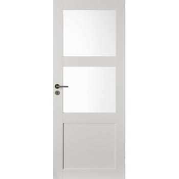 Дверь массивная Unique 506 с 2-мя прозрачными стеклами