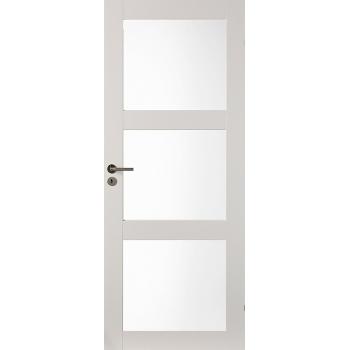 Дверь массивная Unique 507 с 3-мя прозрачными стеклами