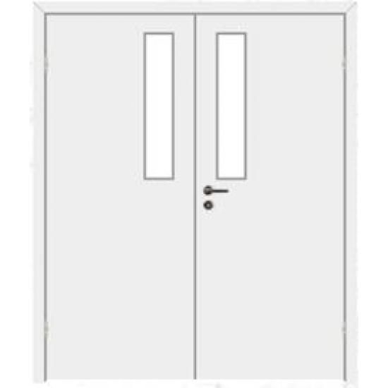 Дверь противопожарная звукоизоляционная EI30/30dB двупольная со стеклом 9%