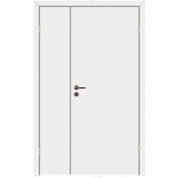 Дверь противопожарная звукоизоляционная EI30/30dB полуторная со стеклом 25%