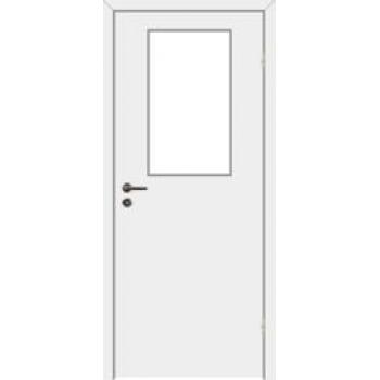 Дверь облегченная гладкая с расстекловкой VELLDORIS