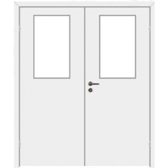 Дверь двупольная звукоизоляционная 29dB, с расстекловкой VELLDORIS